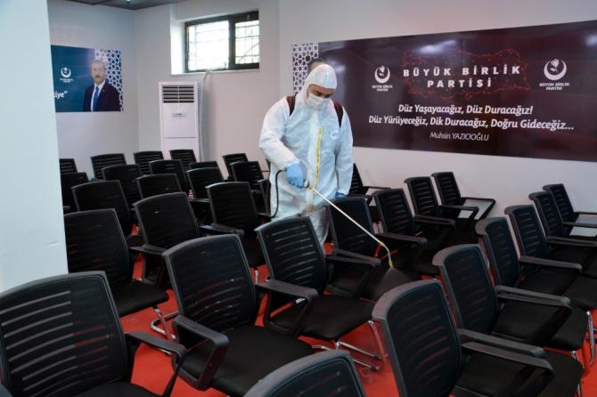 BBP Genel Merkezi korona virüse karşı dezenfekte edildi