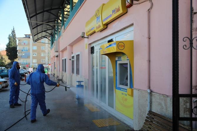 Pamukkale cadde ve sokaklarında korona dezenfektesi