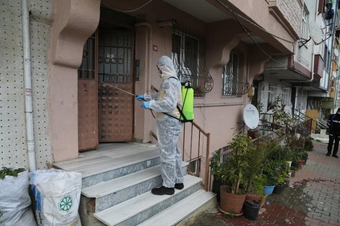 Eyüpsultan sokak sokak temizlenip dezenfekte ediliyor
