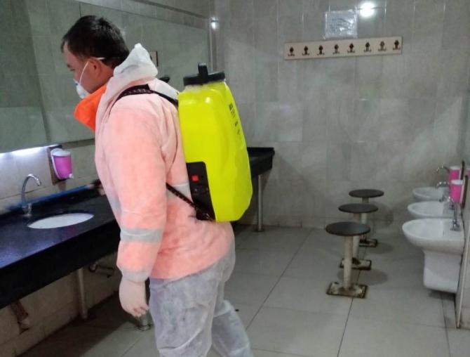 Safranbolu'da dezenfektasyon çalışmaları