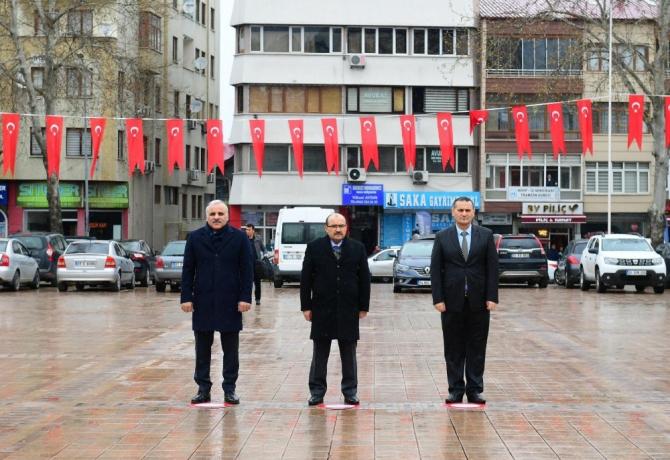 Çanakkale Zaferi ve Şehitleri Anma Günü Etkinlikleri'ne 3 kişi katıldılar
