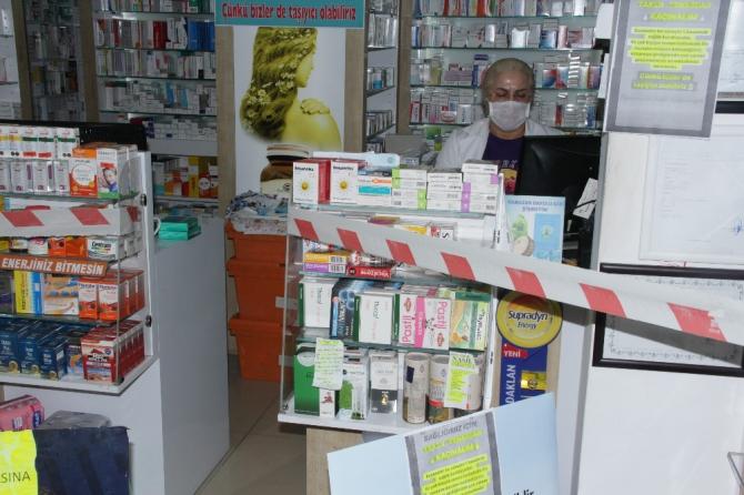 Samsun'da eczacılardan korona virüsüne şeritli önlem