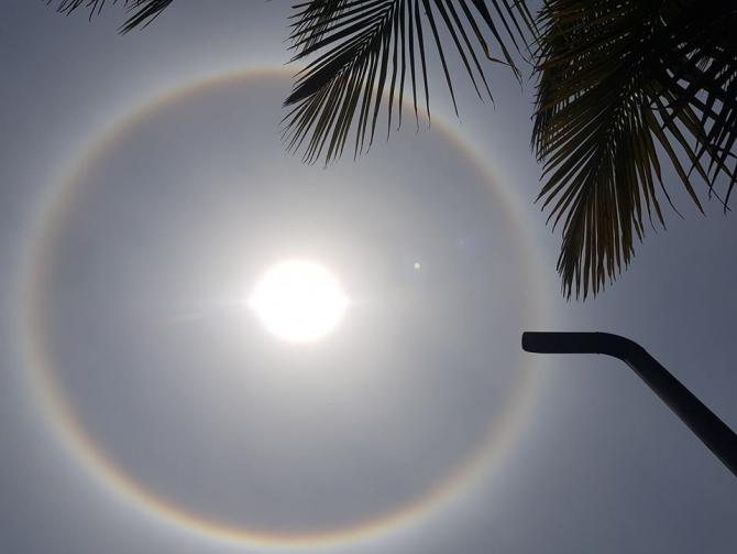 Bangladeş'te ilginç güneş manzarası herkesi şaşırttı