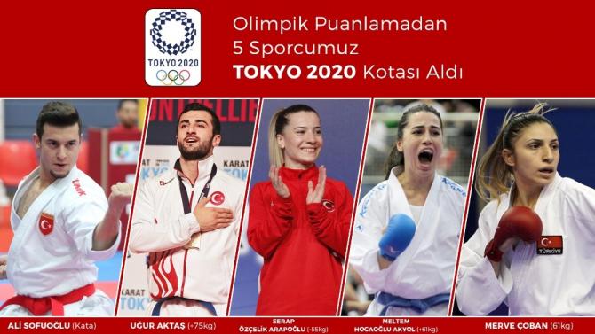 5 milli karateci, olimpik puanlama ile Tokyo kotası aldı