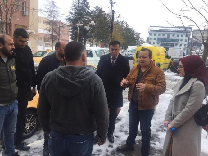 Hakkari'de sürücüler virüs hakkında bilgilendirildi