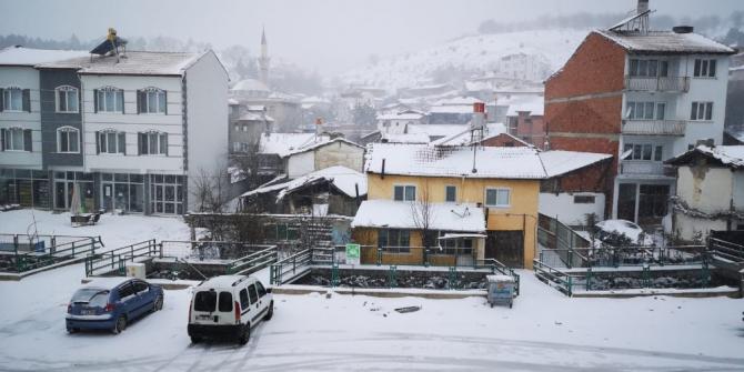 Bozüyük'te kar yağışı