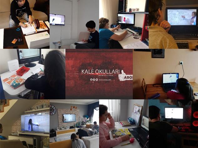 Kale Kolejleri çevrimiçi eğitimde güvenin adresi olmayı sürdürüyor!