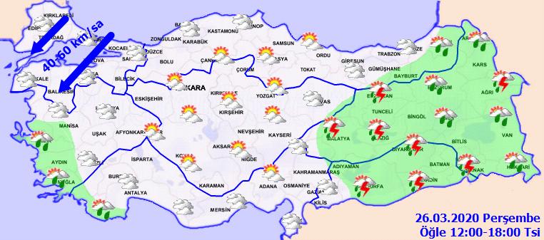 Bugün hava nasıl olacak? İşte 26Mart perşembe hava durumu