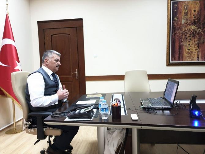 Vali Yazıcı, Kaymakamlarla korona virüs toplantısı yaptı