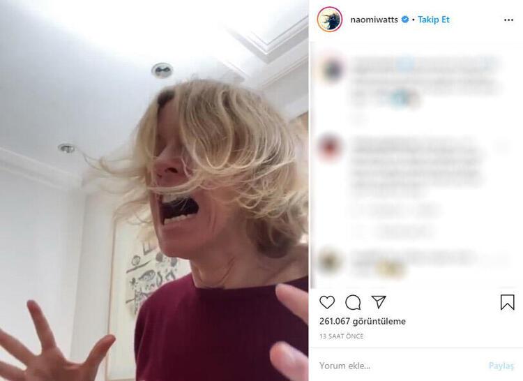 Naomi Watts çektiği videoyla takipçilerinin eleştirisine maruz kaldı