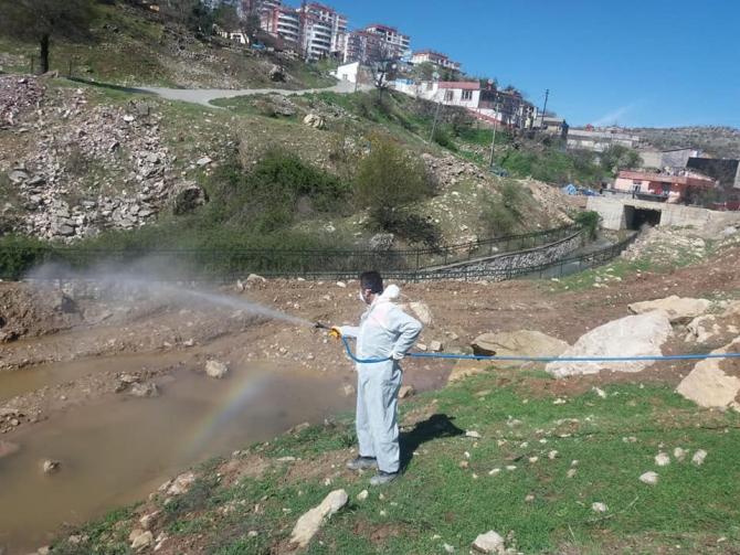 Besni'de haşereyle mücadele sürüyor