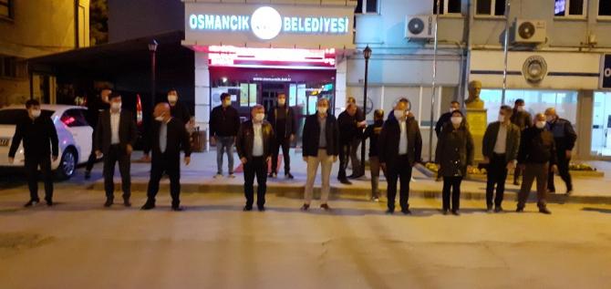 Osmancık'ta sağlık çalışanlarına alkışlı destek