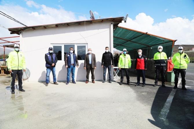 Başkan Güder'den polis güvenlik noktasına ziyaret