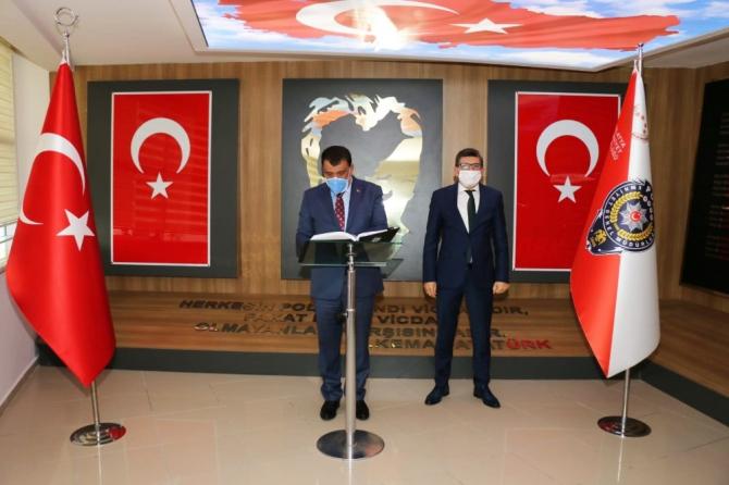 Başkan Gürkan'dan Müdür Dağdeviren'e ziyaret