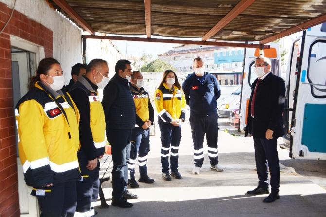 """Başkan Mesut Ergin, """"Bu dönemde en büyük gücümüz sağlık çalışanlarımızdır"""""""