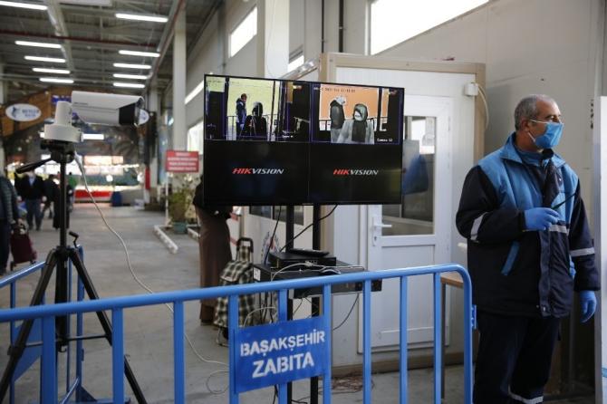 Başakşehir'de kapalı pazarlara termal kamera kuruldu