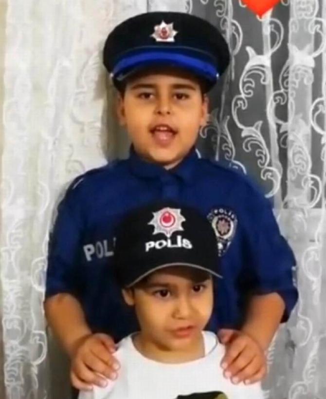 Batman'da çocuklar 10 Nisan Polis Gününü kutladı
