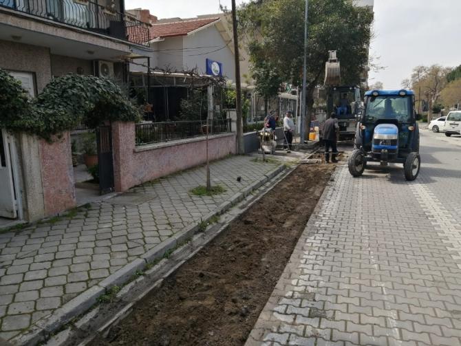 Büyükşehirin ürettiği taşlar, cadde ve sokakları süslüyor