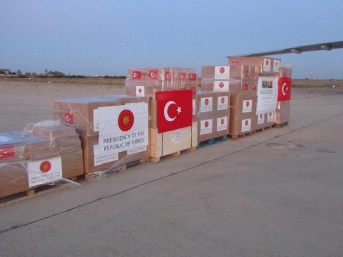 Türkiye'den Libya'ya yardım