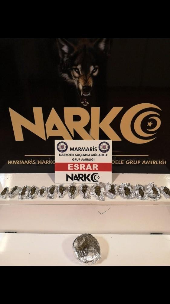 Marmaris'ten temin ettikleri uyuşturucu Datça'da satan 3 şüpheli yakalandı