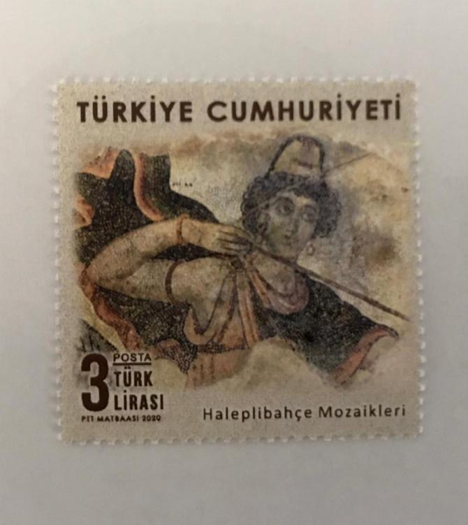 """PTT'den """"Haleplibahçe Mozaikleri"""" konulu anma pulu"""