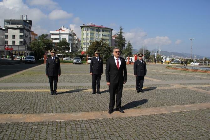 Giresun'da Türk Polis Teşkilatı'nın kuruluş yıl dönümü sade bir törenle kutlandı