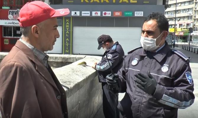 Gaziantep'te zabıtadan sokağa çıkan vatandaşlara ceza