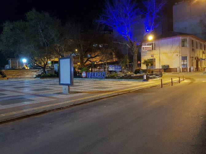 Cadde ve sokaklar boşaldı