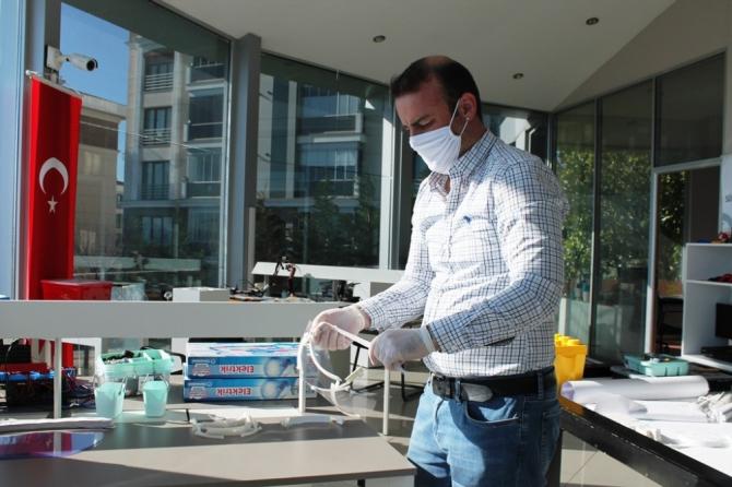 Saha personelleri için siperlikli maske üretimine başlanıldı