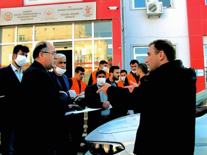 Araban'da vatandaşlara ücretsiz ekmek
