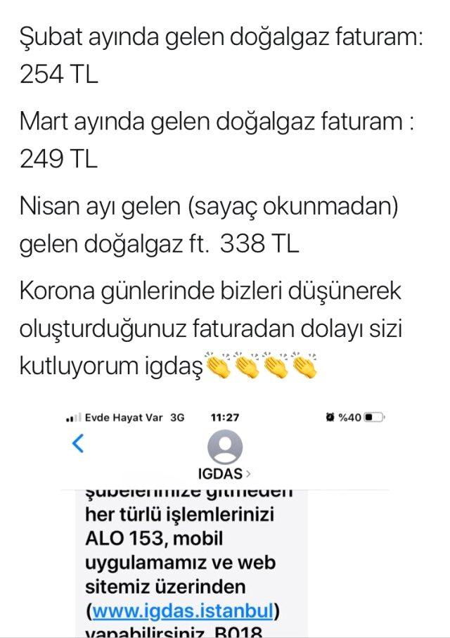 İstanbul'da doğal gaz faturalarına tepki yağdı!