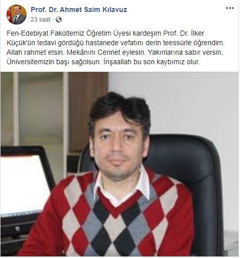 Bursa'da koronayı yenen ünlü profesör kalbine yenik düştü