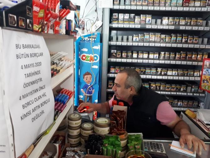 Veresiye borcu olanlar markete gelince büyük bir şokla karşılaştı