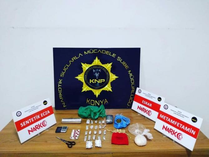 Konya'da uyuşturucu operasyonunda 21 kişiye işlem yapıldı