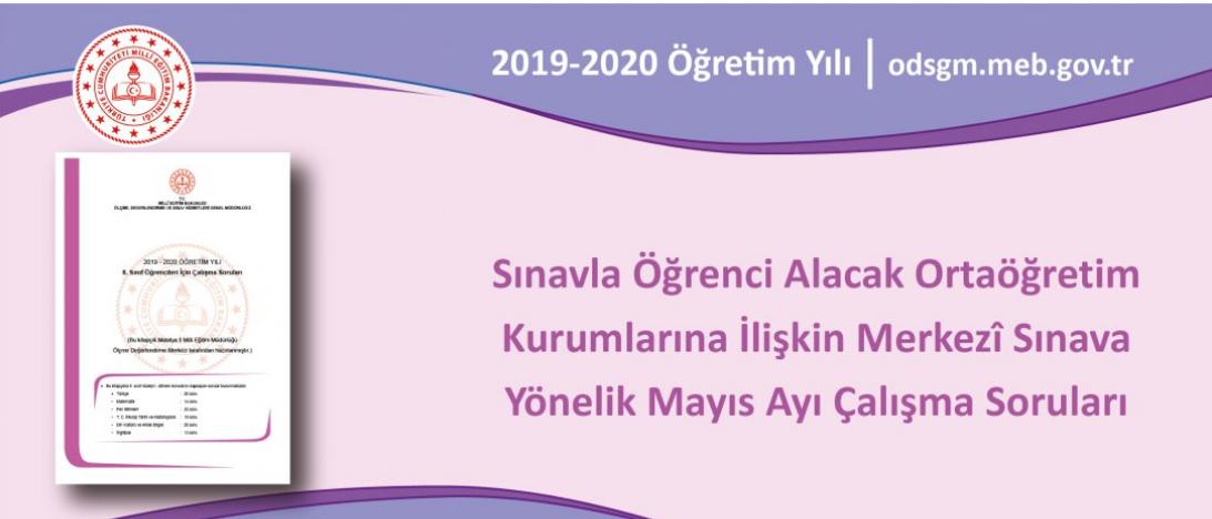 Ziya Selçuk açıkladı: LGS için Mayıs ayı çalışma soruları yayında