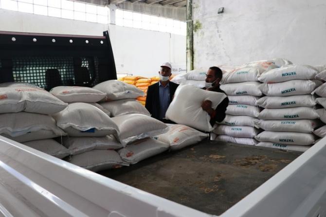 Yüzde 75 hibeli çeltik tohumu dağıtımı