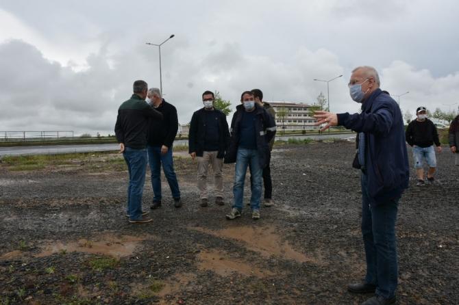TESKİ Genel Müdürü İçöz, yoğun yağış nedeniyle birçok noktada incelemede bulundu