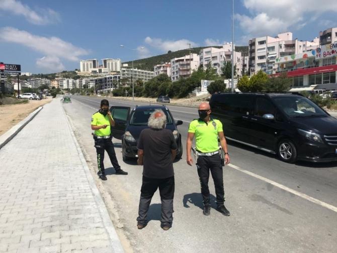 65 yaş üstü vatandaş polisin dur ihtarına uymadı