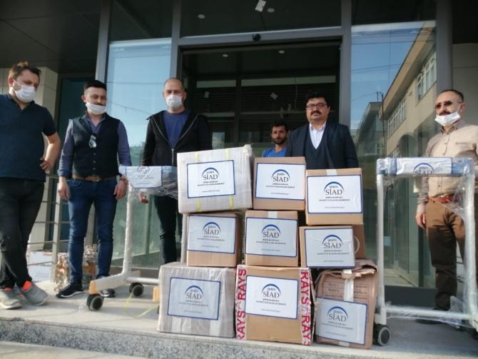 İstanbul'dan Şebinkarahisar'a solunum cihazı desteği