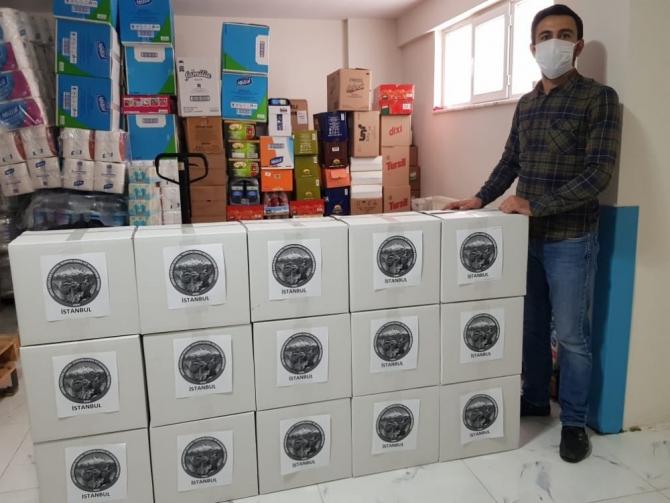 İstanbul Genç Gazililer Derneği gıda kolilerini ihtiyaç sahiplerine ulaştırdı