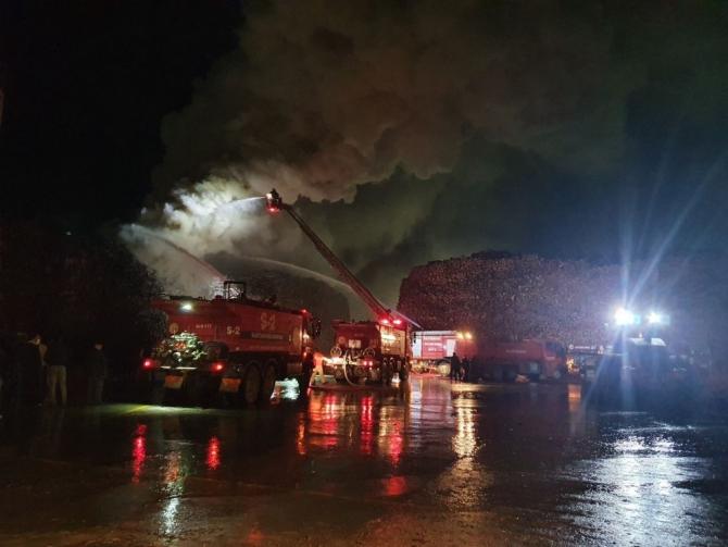 Kastamonu'da entegre fabrikasında yangın