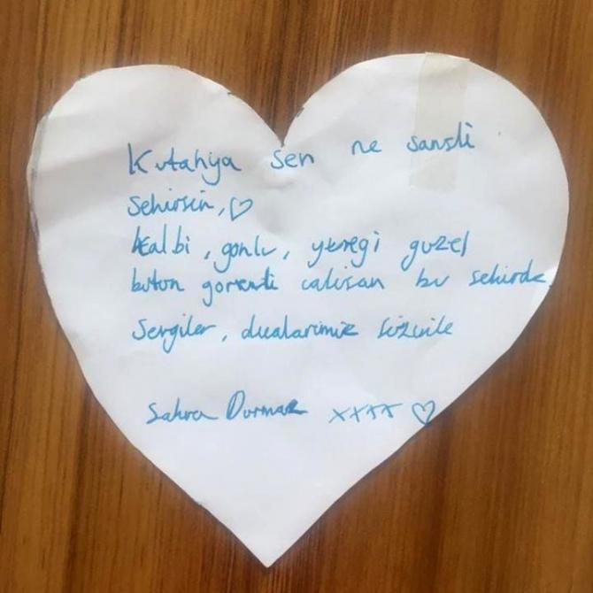 Kütahya'daki karantinanın ardından yurtlarda duygulandıran mektup ve resimler kaldı