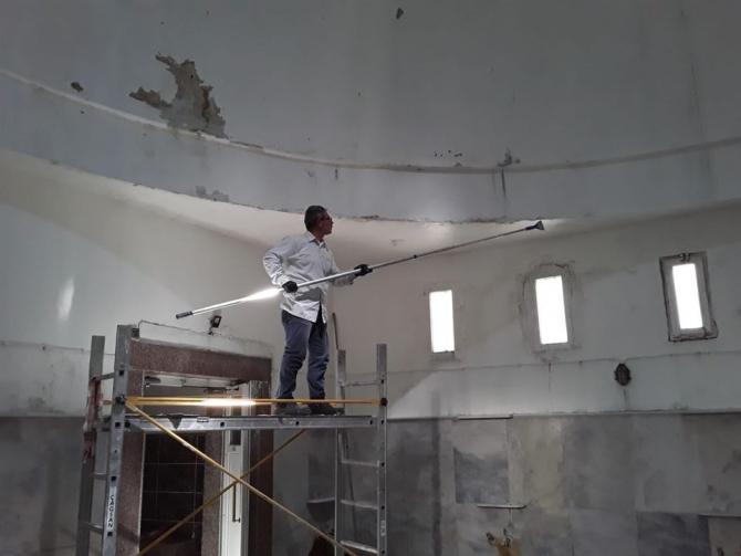 Hamamlarda bakım ve onarım çalışması