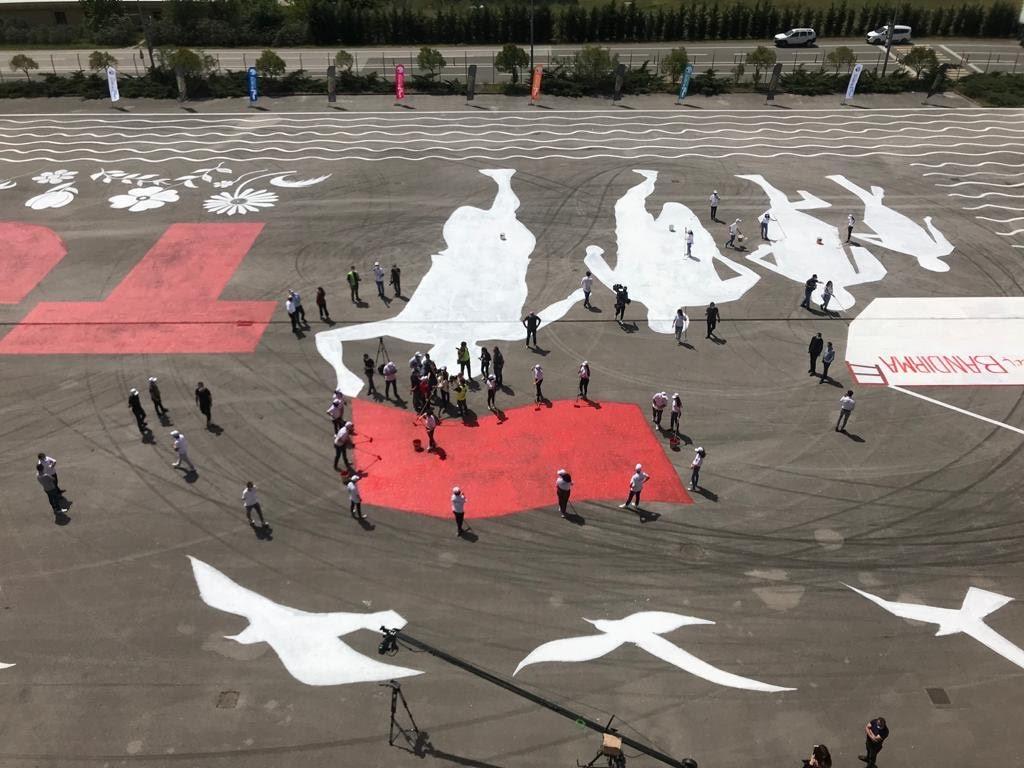 Tuzla'dan 19 Mayıs Atatürk'ü Anma, Gençlik ve Spor Bayramı'nda dünya rekoru!