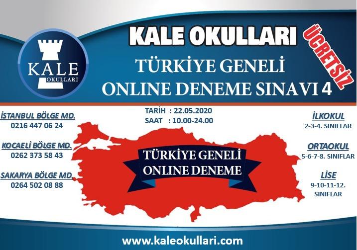 Özel Kale Okulları 7. Türkiye Geneli Online Deneme Sınavı'na hazırlanıyor!