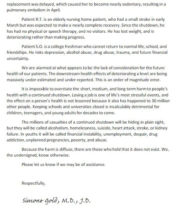 ABD'li 500 doktor karantinanın kötü sonuçları hakkındaTrump'ı uyardı