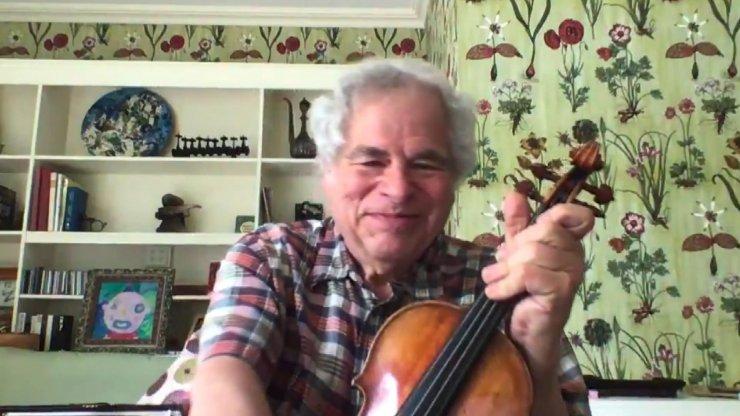 Dünyaca ünlü efsane kemancı Itzhak Perlman'dan karantinadakeman dinletisi
