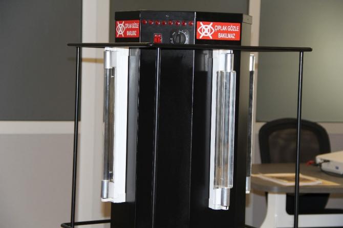 Korona ile mücadele için UVC lambalı cihaz geliştirildi