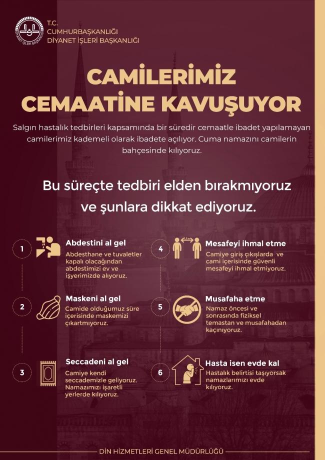 Camiler 29 Mayıs'ta açılıyor! Diyanet'ten camiler için afiş