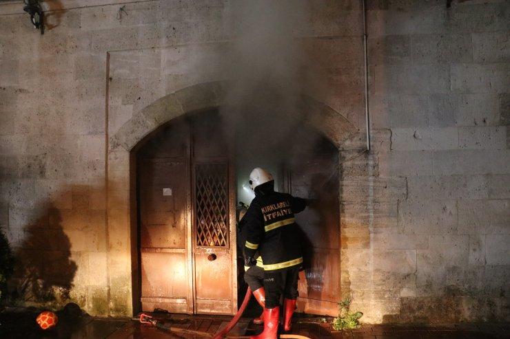 Kırklareli'nde tarihi çarşıda yangın